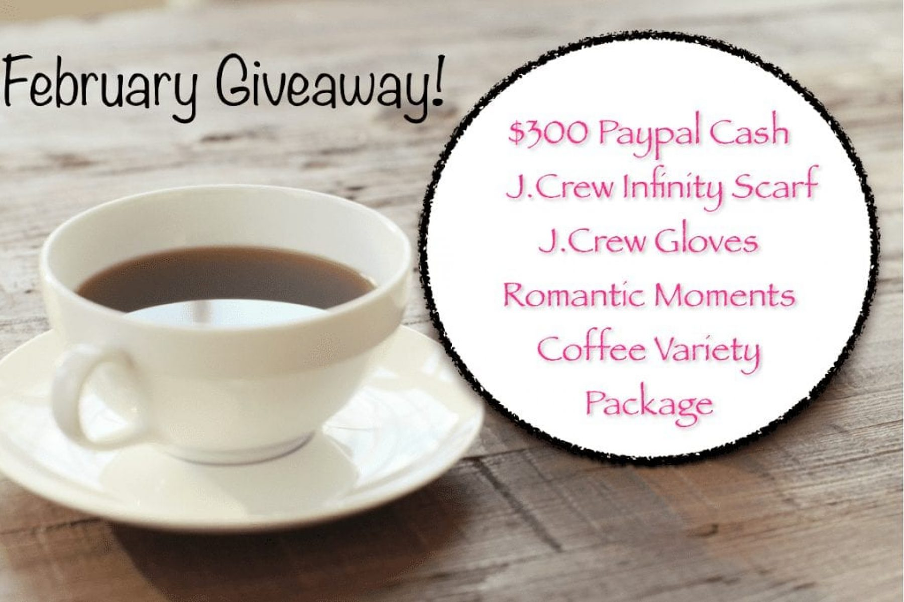 Giveaway….