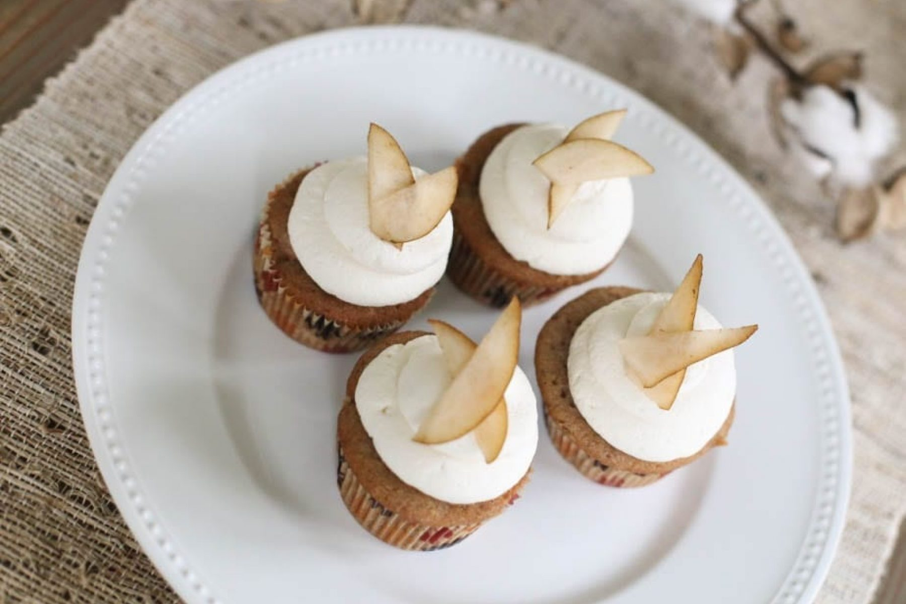 Maple Syrup - Cupcake - Recipe - Cupcake of the Month - Pear - Apple- Fall Flavors - Afternoon Espresso