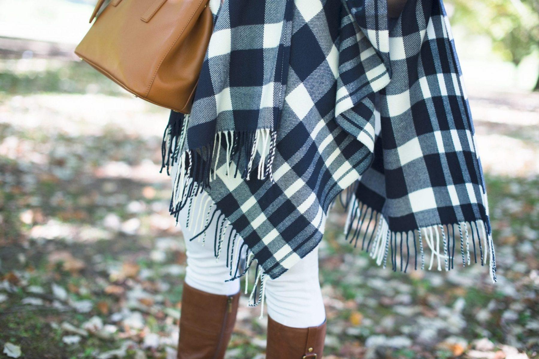 Blanket Cape-Fall Fashion-Winter -Cozy-Plaid-J.Crew Sweater1