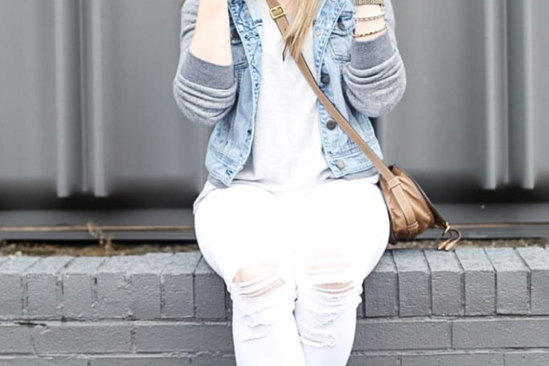 Free People Denim Jacket, American Eagle Jacket, Chloe Bag, Spring Fashion, Blogger (3 of 4)