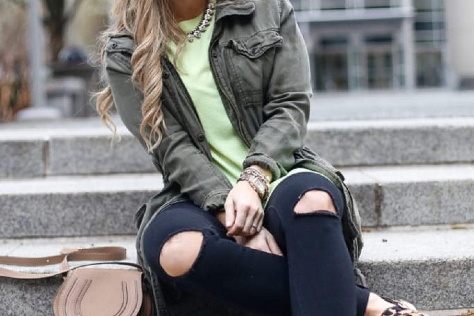 Afternoon-Espresso-Leopard Sneakers- Casual-Cargo Jacket- Rocksbox-Chloe Handbag-1