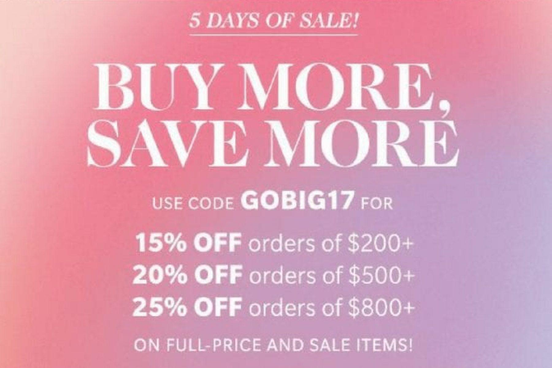 Buy More, Save More- Shopbop Sale