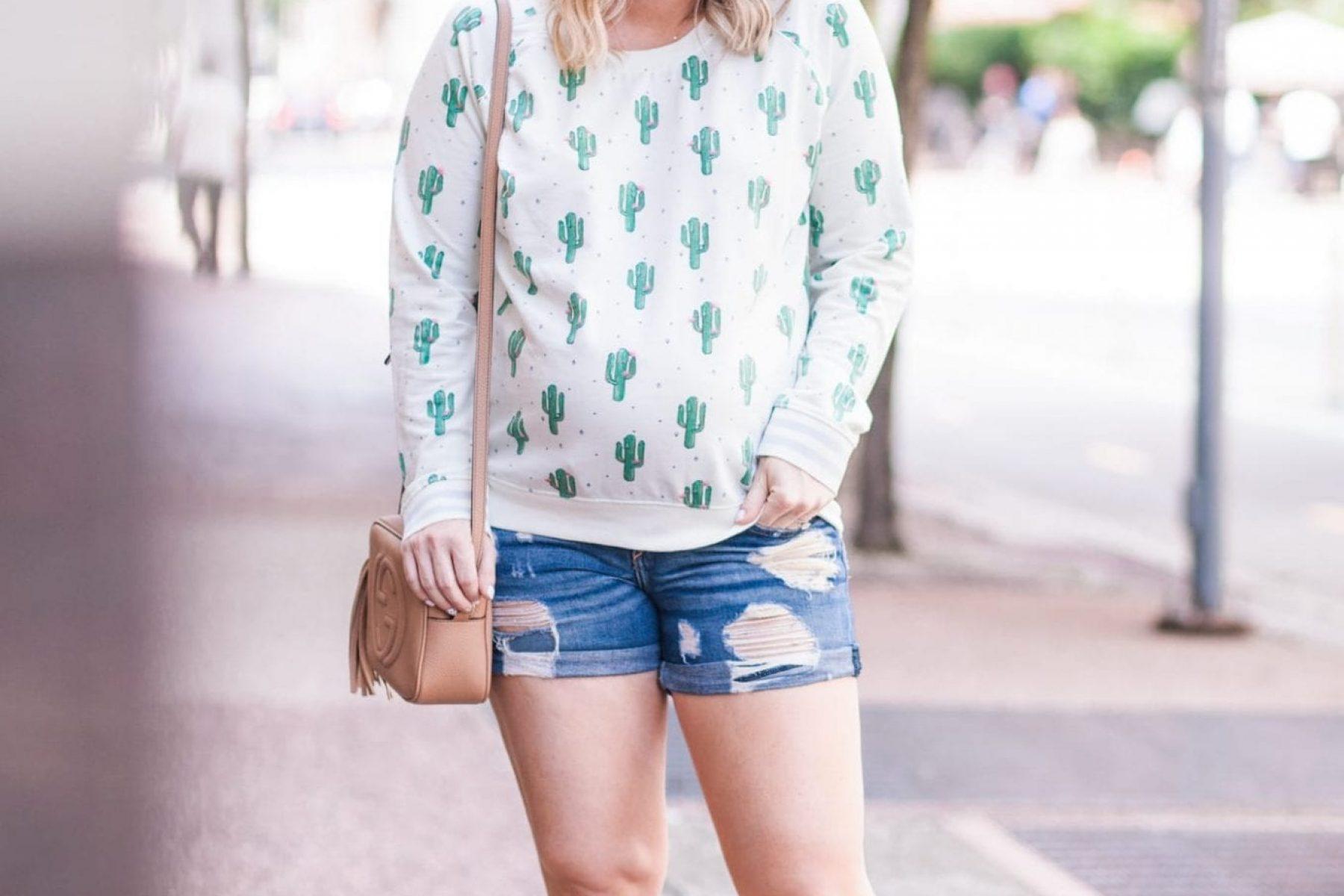 Catcus Sweatshirt - Nordstrom - Blogger- Maternity Fashion -5