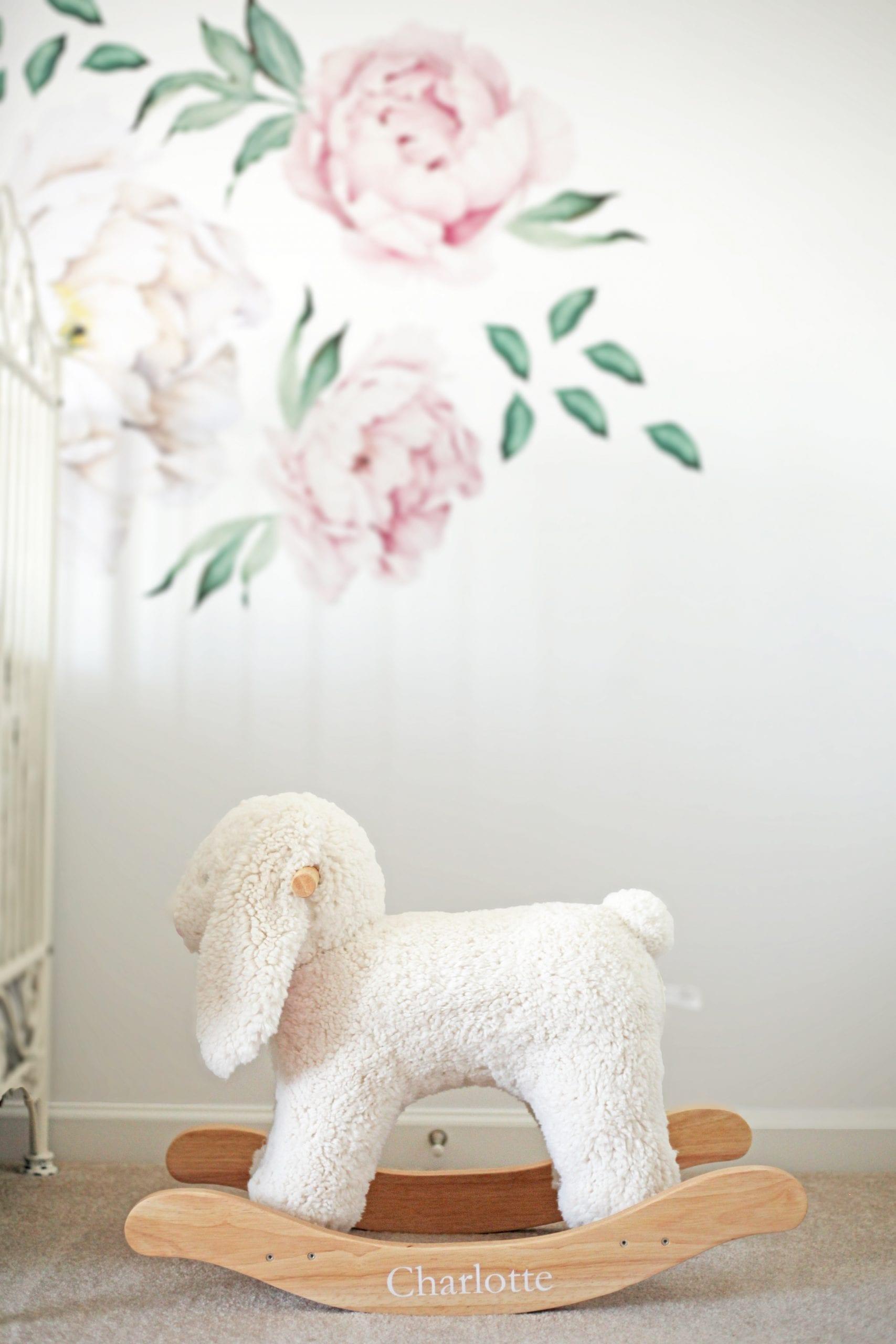 Pottery Barn Kids Sherpa Bunny Rocker - Nursery Decoration