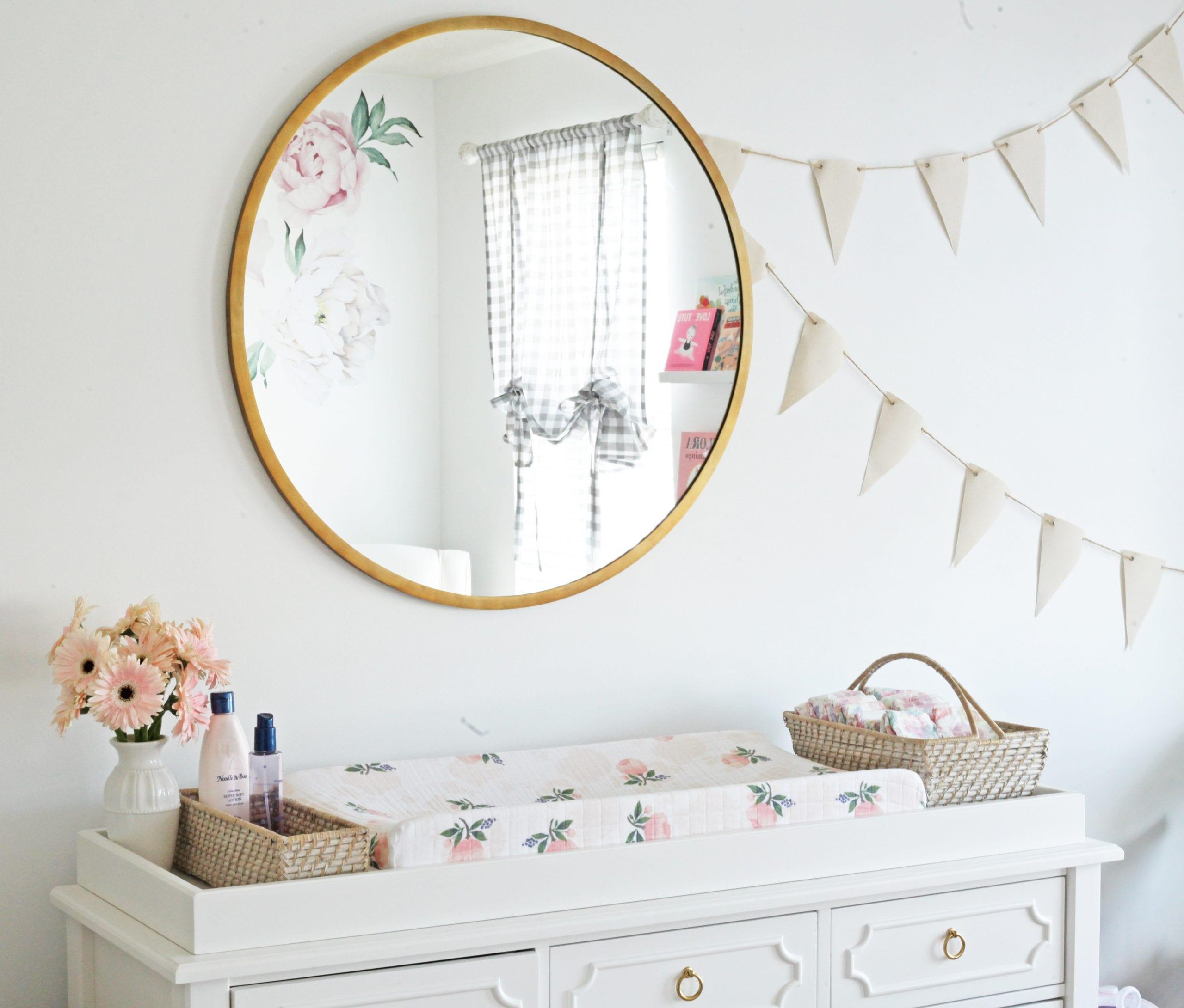 World Market Mirror- Nursery Decoration