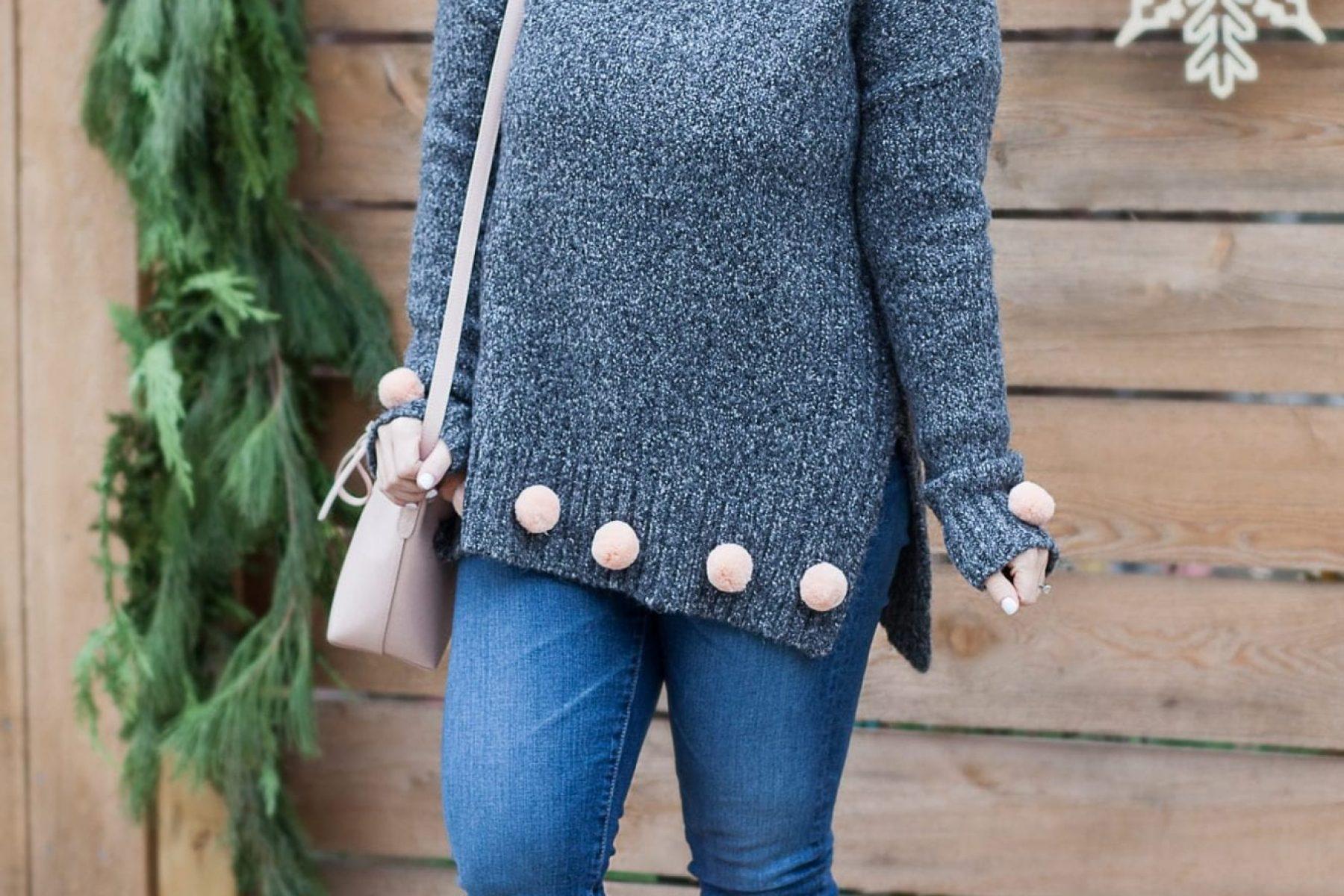 Pom Pom Sweater Holiday Cheer