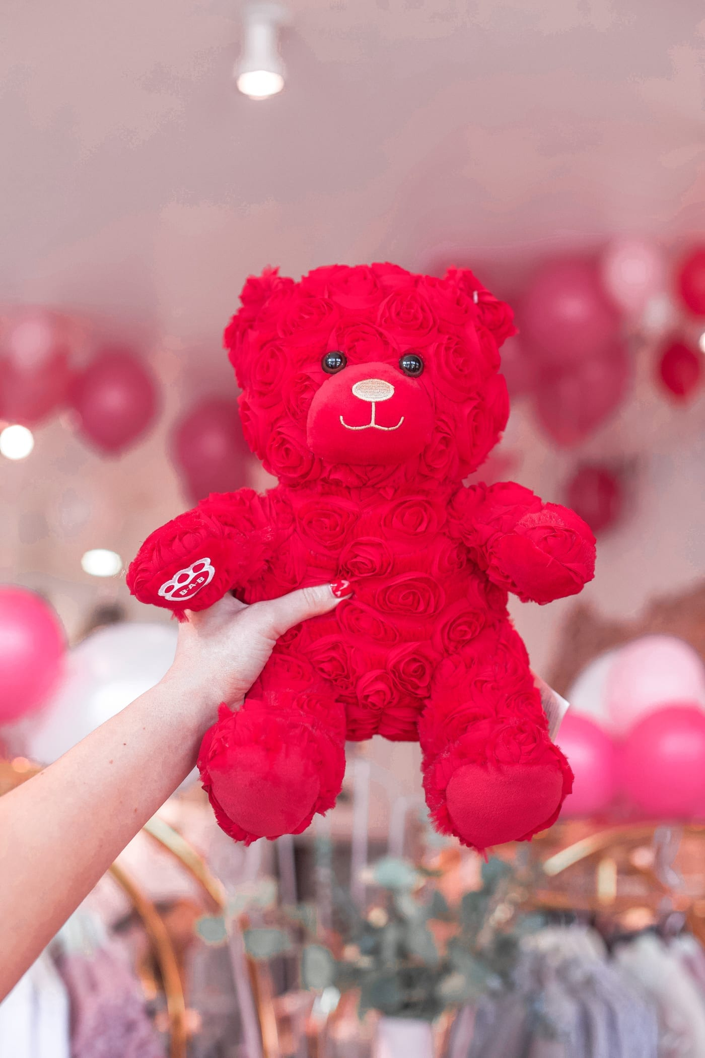 Galentine's Day, Build-a-Bear, BAB, Best Valentine's Day Gift - Red Roses Teddy Bear