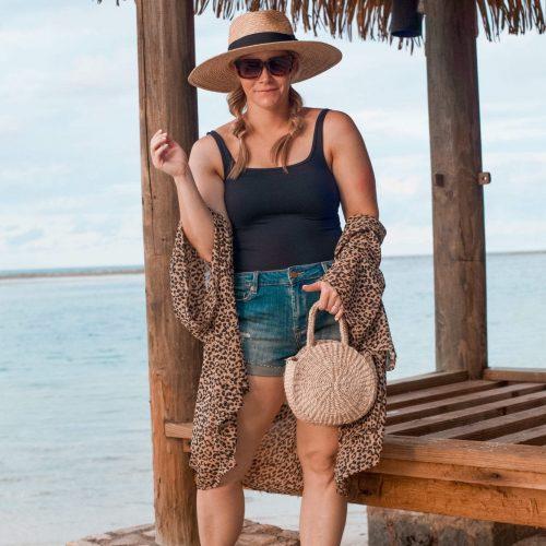 BLNK NYC Boyfriend Shorts - Beach Outfit Idea-1