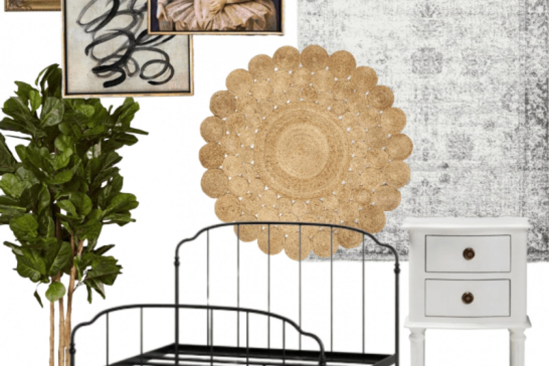 Farmhouse Inspired Guest Room
