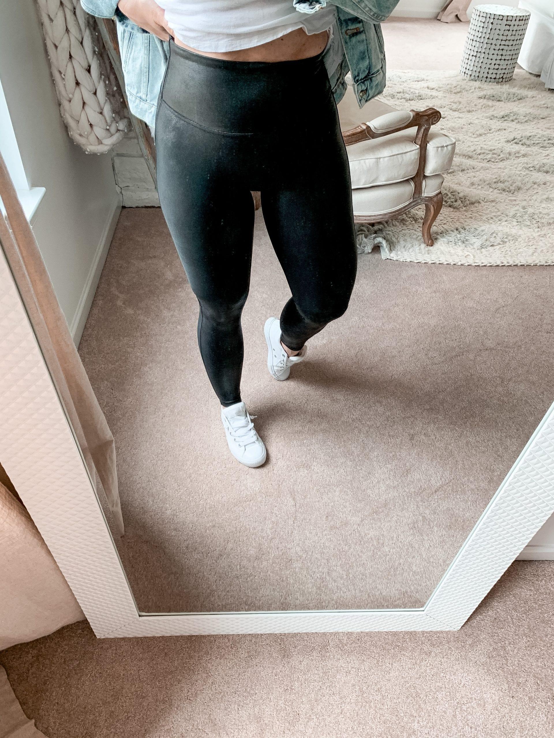 Anniversary Sale- Closet Staple Items- Fall Sale- Ashley Pletcher- Spanx Faux Leather Leggings