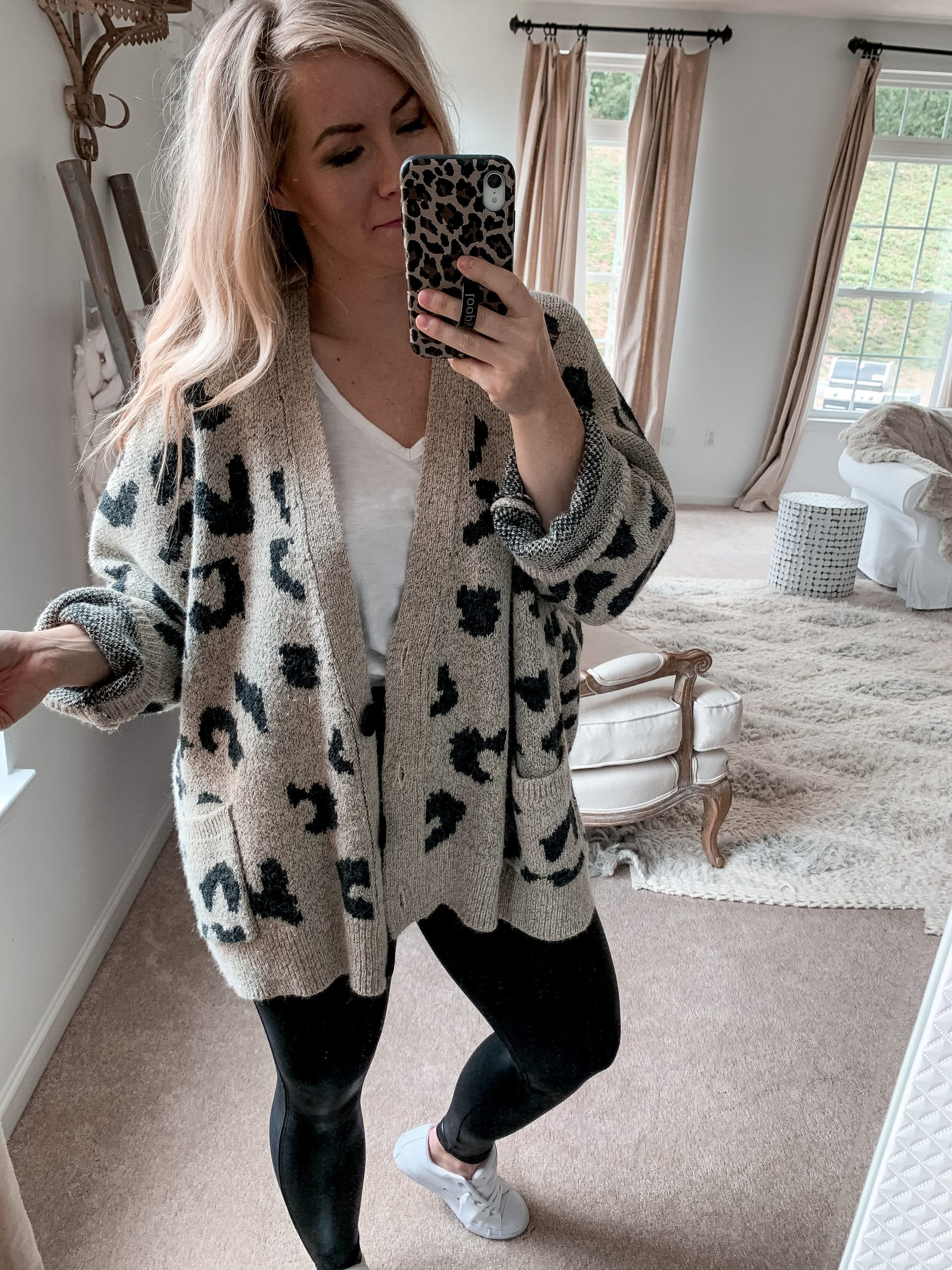 Anniversary Sale- Closet Staple Items- Fall Sale- Ashley Pletcher-Cheetah Print Cardigan