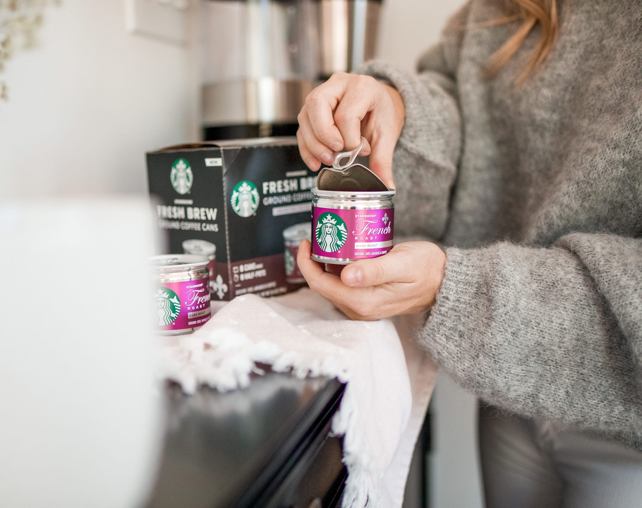 self care for busy mom- Starbucks® Fresh Brew Cans