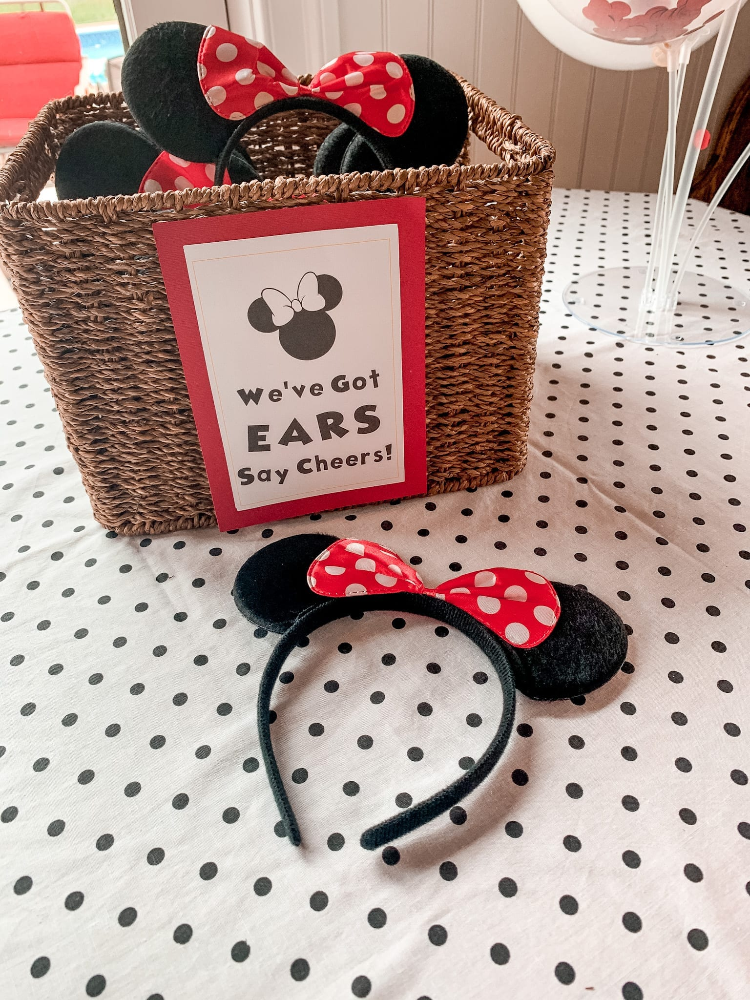 Mickey Mouse Clubhouse Party - Birthday Party Idea- Kids Party- Mickey Mouse Ears - Say Cheers