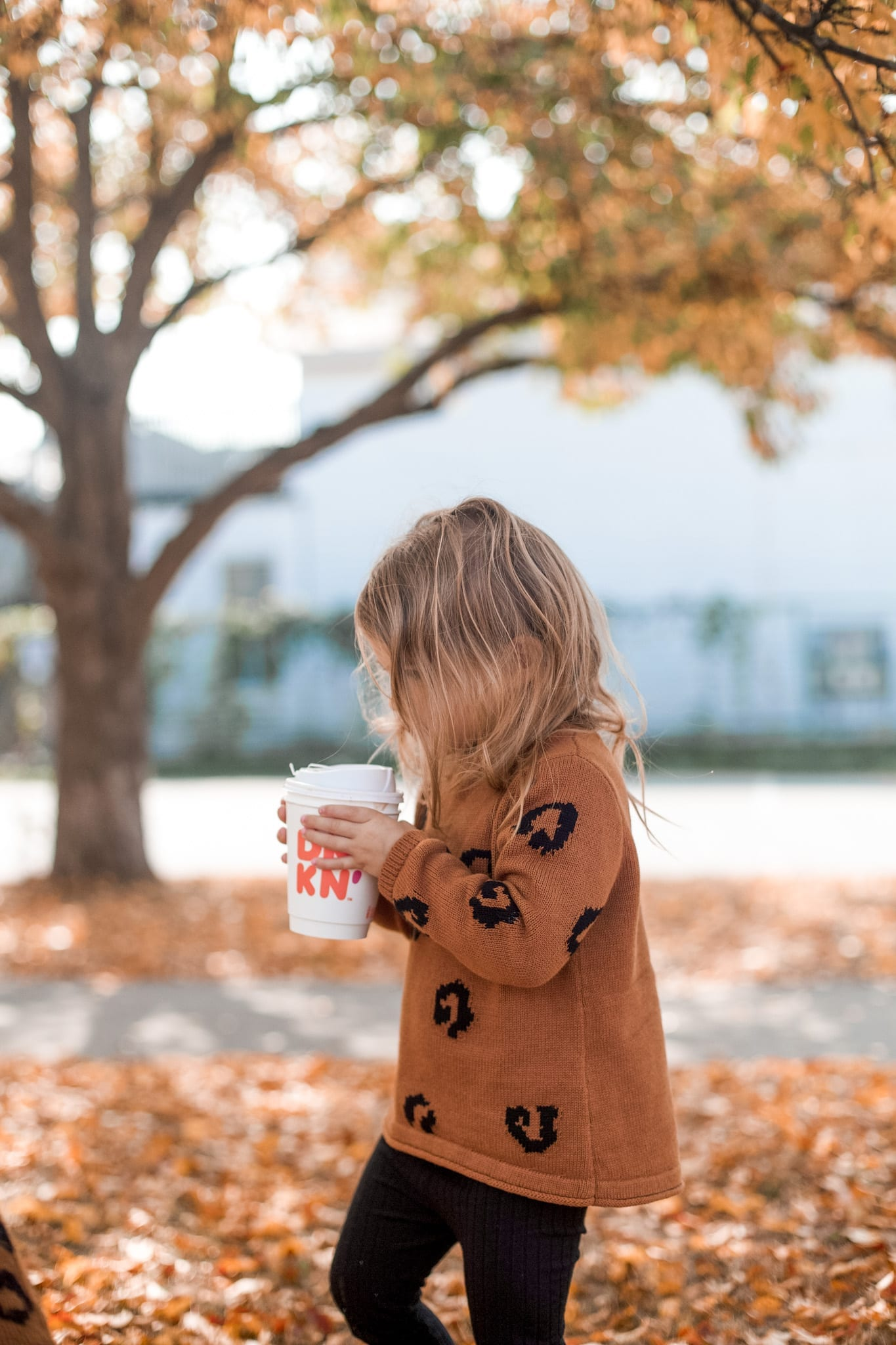 National Dunkin' Day - National Coffee Day- Afternoon Espresso- Coffee Lover- Mother Daughter Dates - Pittsburgh- Dunkin Hot Chocolate- cheetah sweater