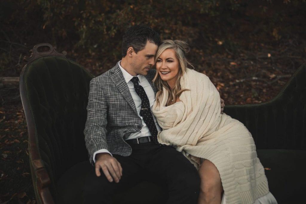 Fall Wedding - Old Souls Vintage Furniture- Vintage Wedding- Rizzy Home Blanket - Burgh Brides