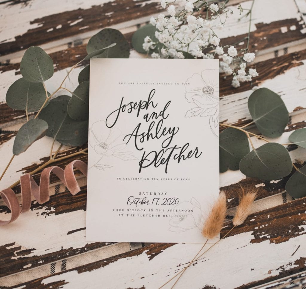 Oh JoyFul Day- Wedding Invitation- Wedding Stationary - Pittsburgh - Burgh Brides