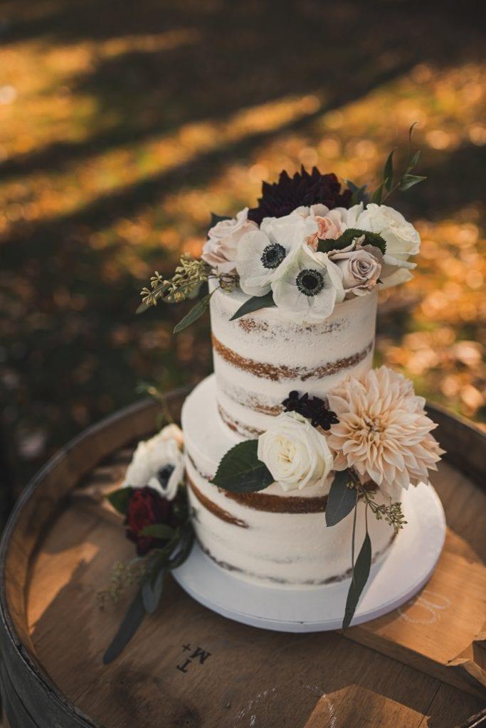 Wedding Cake Idea- Fall Wedding Cake- Naked Cake - Pittsburgh Bakery- Tasty Bakery- Burgh Brides