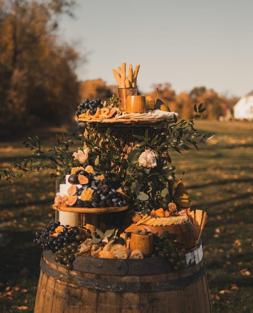 Charcuterie Table- Backyard wedding- covid wedding ideas- grazing table- Mediterra Bakehouse- Mediterra Cafe- Pittsburgh-Burgh Brides