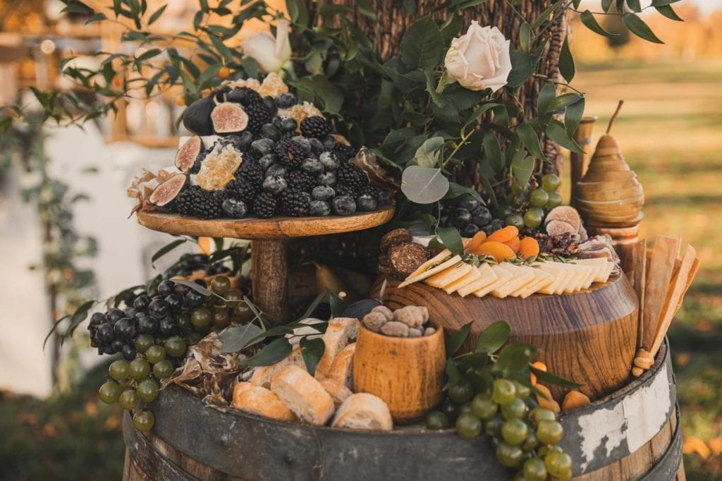 Charcuterie Table- Backyard wedding- covid wedding ideas- grazing table- Mediterra Bakehouse- Mediterra Cafe- Pittsburgh-old souls vintage furniture-Burgh Brides