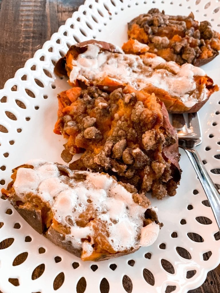 Tips for Hosting a Small Thanksgiving Dinner- Twice Baked Sweet Potatoes Recipe