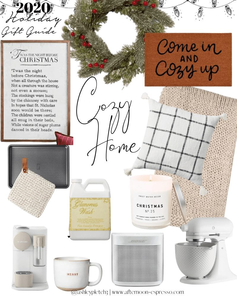 2020 Holiday Gift Guide- Cozy Home- Afternoon Espresso- Gift Ideas- Christmas Gifts