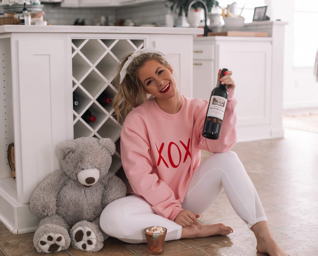 14 out of the box valentine's day gift ideas- Ashley Pletcher - Afternoon Espresso- XOXO Sweatshirt - Pink Lily