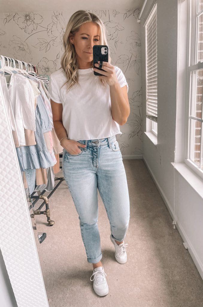 2021 April Favorites Roundup- Afternoon Espresso- Pittsburgh- Ashley Pletcher- HIgh Rise Jeans- Cropped Tee Shirt