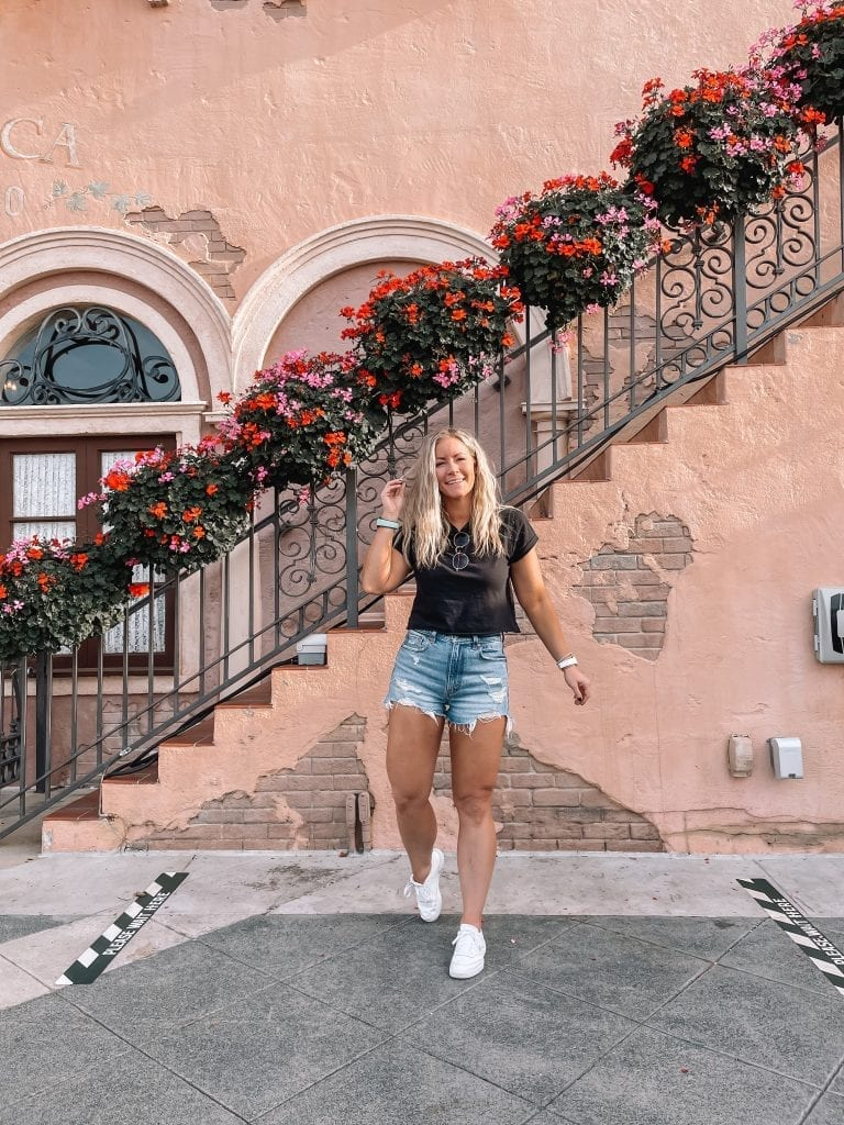 2021 April Favorites Roundup- Afternoon Espresso- Pittsburgh- Ashley Pletcher- Casual Summer Outfit- Distressed Denim Shorts