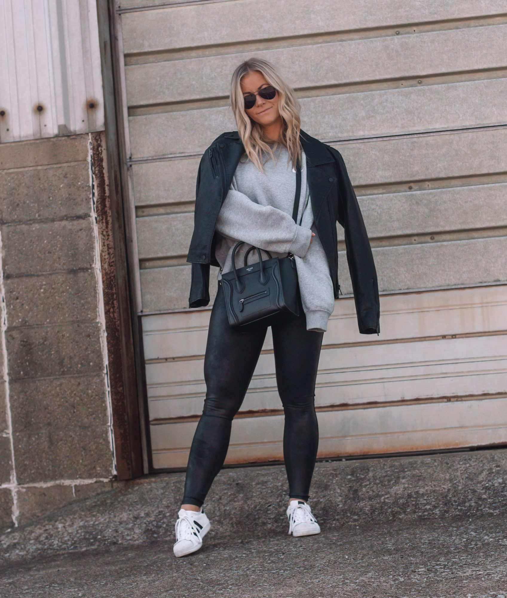 Faux Leather Leggings - Fall Outfit Idea- Athleisure- Ashley Pletcher