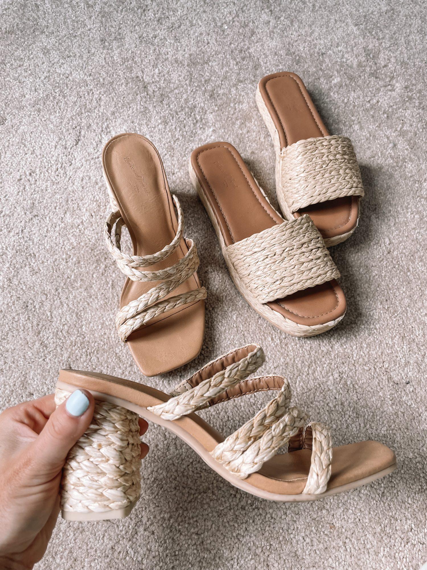 July 2021 Favorites - Afternoon Espresso- Ashley Pletcher- Affordable Shoes- Raffia heels