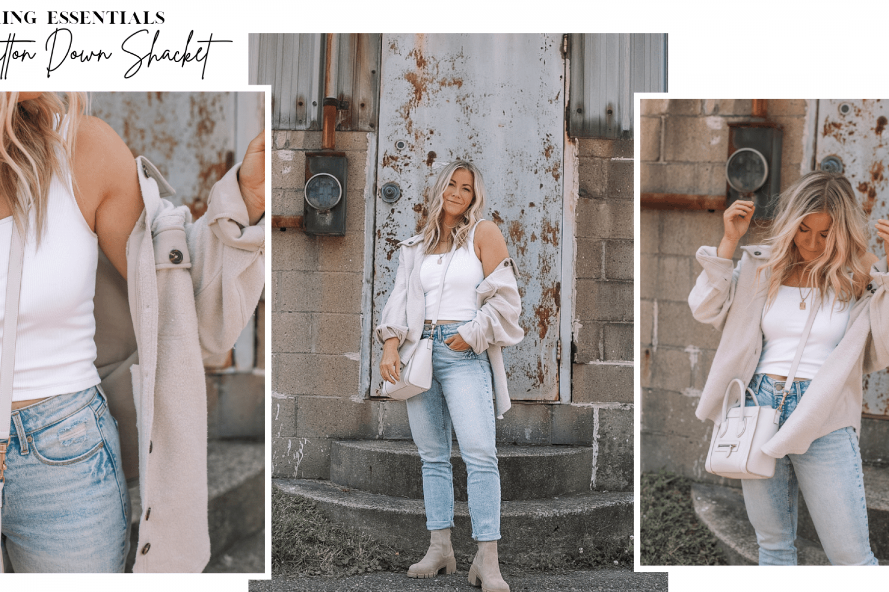 Layering Essentials with this Cozy Button Down Shacket under $50