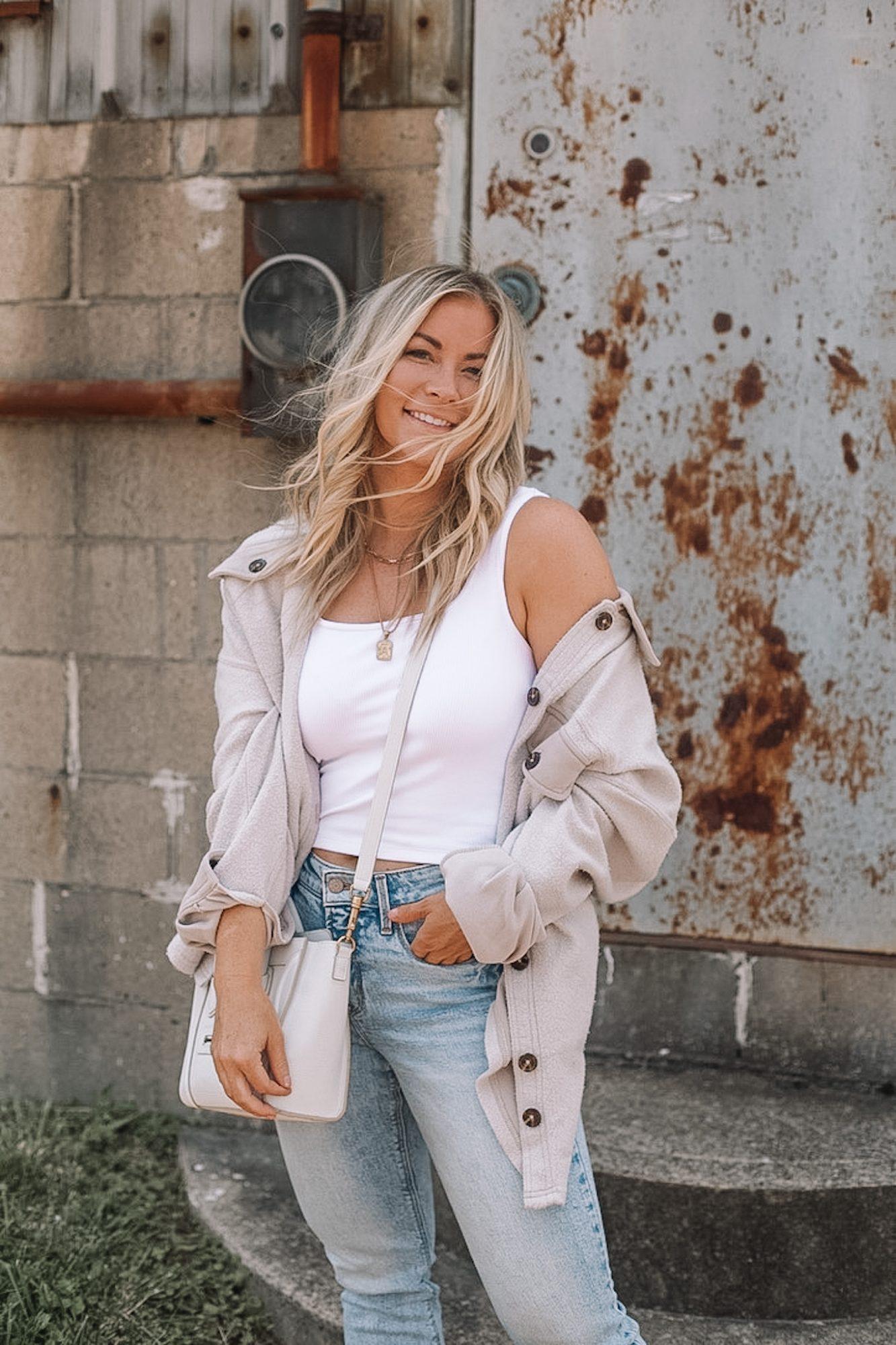 Cozy Button Down Shacket- Fall Essentials- Fall Layers- Ashley Pletcher- Fall Fashion