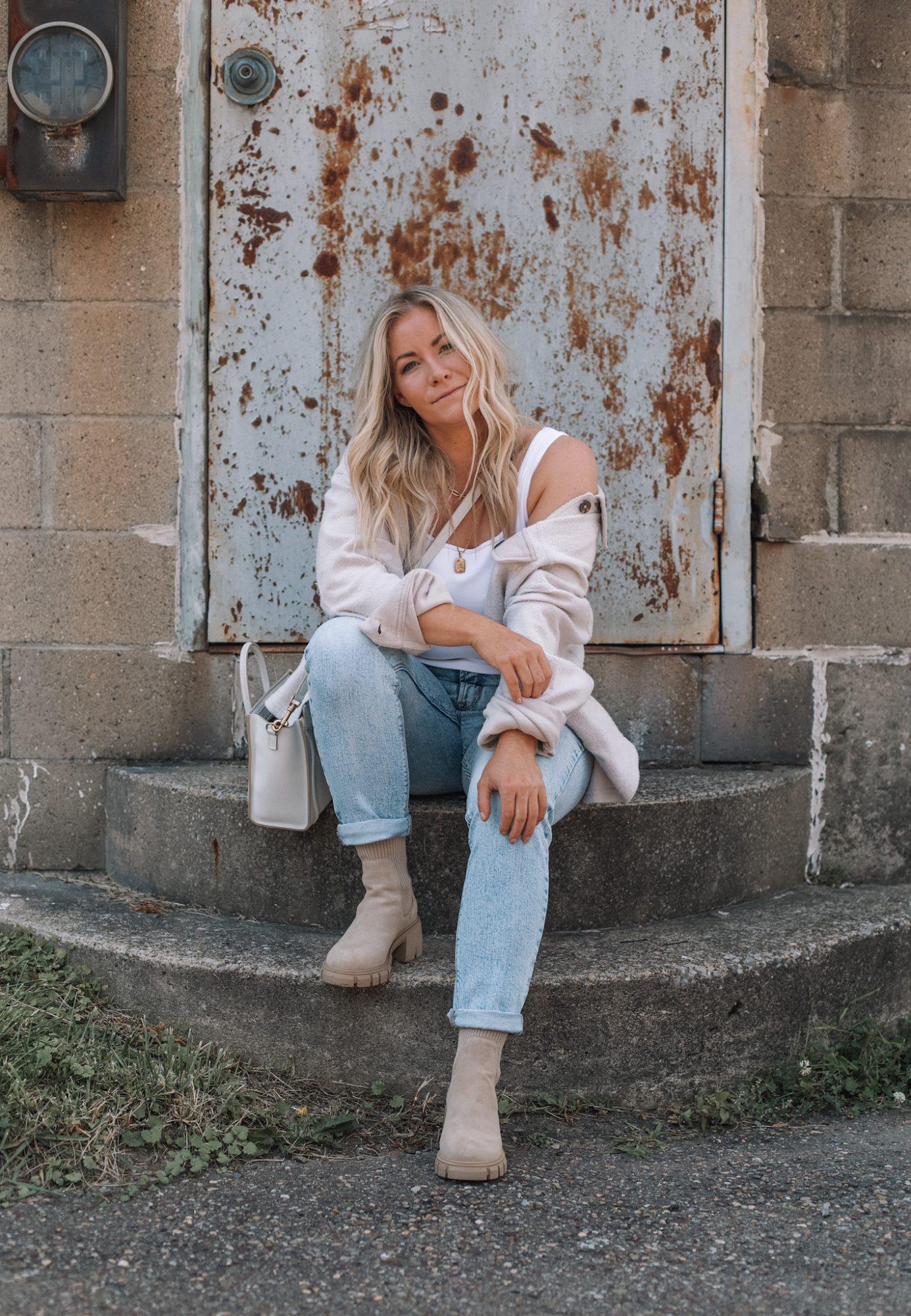 Cozy Button Down Shacket- Fall Essentials- Fall Layers- Ashley Pletcher- Fall Fashion- Fall Trends