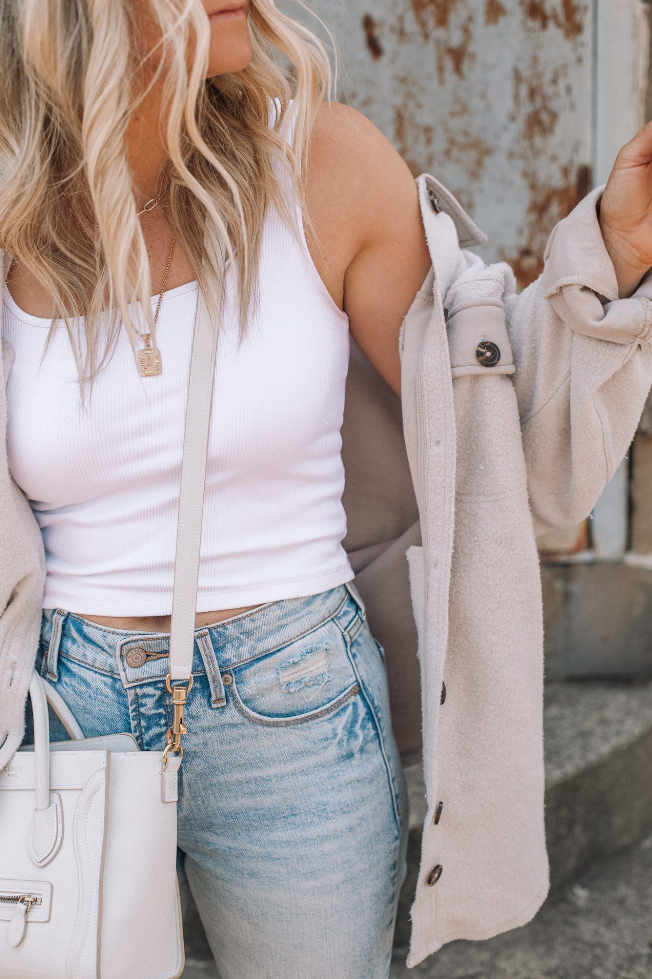 Cozy Button Down Shacket- Fall Essentials- Fall Layers- Ashley Pletcher- Fall Fashion- Layering Basics