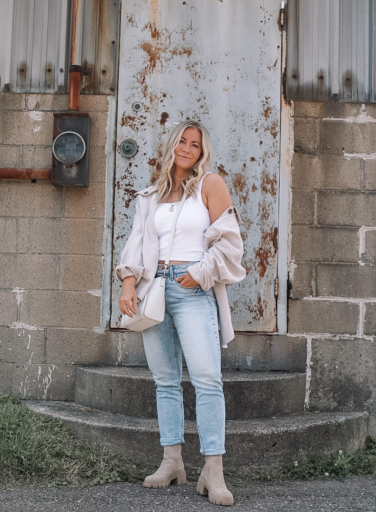 Cozy Button Down Shacket- Fall Essentials- Fall Layers- Ashley Pletcher- Fall Fashion- Casual Fashion- Affordable Fashion